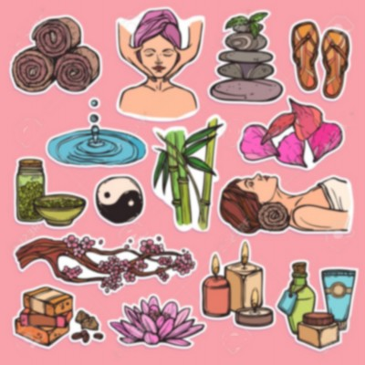 Spa therapy beauty health care wellness sketch color icons set isolated vector illustration