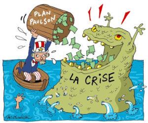 dessin humoristique sur la crise