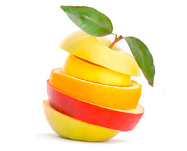 fruits découpés