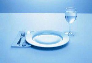 assiette vide en période de jeûne