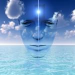 Visage méditatif