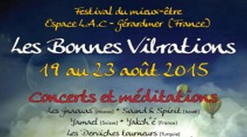 19-23 Août 2015 : Festival Les Bonnes Vibrations à Gérardmer